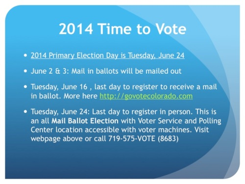 Primary Election Day Tuesday June 24, 2014