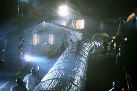 ET Hollywood tunnel more secure and ET had no Ebola but a creature from out of Space