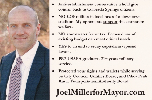 Joel Miller for MayorCity of Colorado Springs