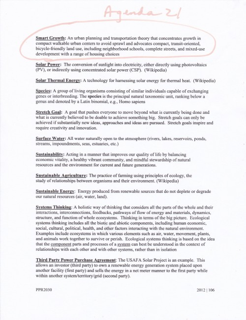Colorado Springs Forward Agenda 21 language