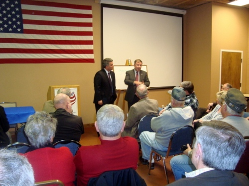 Elect Senator Cory Garner social gathering at GOP headquarters with congressman Doug Lamborn